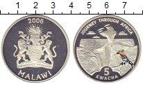 Изображение Монеты Малави 5 квач 2006 Серебро Proof Путешествие  по  Афр
