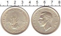 Изображение Монеты Африка ЮАР 5 шиллингов 1952 Серебро XF+