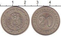 Изображение Монеты Европа Германия 20 пфеннигов 1887 Медно-никель UNC