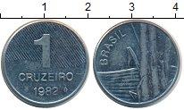 Изображение Монеты Бразилия 1 крузейро 1982 Медно-никель UNC
