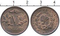 Изображение Монеты Южная Америка Колумбия 5 сентаво 1971 Бронза XF
