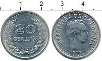 Изображение Монеты Колумбия 20 сентаво 1973 Медно-никель UNC-