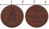 Изображение Монеты Германия Саксен-Майнинген 2 пфеннига 1860 Медь XF