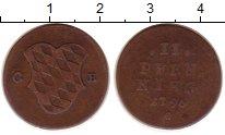 Изображение Монеты Германия Бавария 2 пфеннига 1796 Медь VF