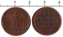Изображение Монеты Брауншвайг 1 пфенниг 1776 Медь XF