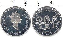 Изображение Монеты Канада 25 центов 1999 Серебро Proof-