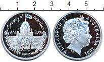 Изображение Монеты Австралия 20 центов 2001 Серебро Proof Елизавета II.  100 -