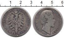 Изображение Монеты Бавария 2 марки 1876 Серебро F Людвиг II