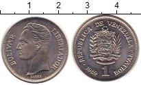 Изображение Монеты Южная Америка Венесуэла 1 боливар 1989 Медно-никель XF