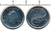 Изображение Монеты Северная Америка Канада 10 центов 2001 Медно-никель UNC-