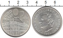 Изображение Монеты Испания 2000 песет 1994 Серебро UNC- Ассамблея Всемирного