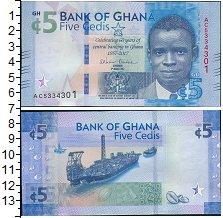 Изображение Банкноты Гана 5 седи 2017  UNC