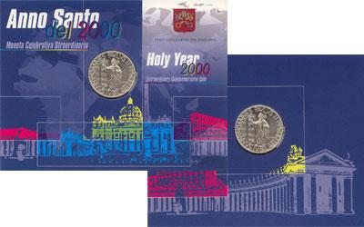 Изображение Подарочные монеты Европа Ватикан Святой год 2000  UNC