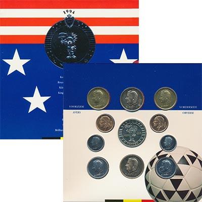 Изображение Подарочные монеты Европа Бельгия Набор 1994 года 1994  UNC