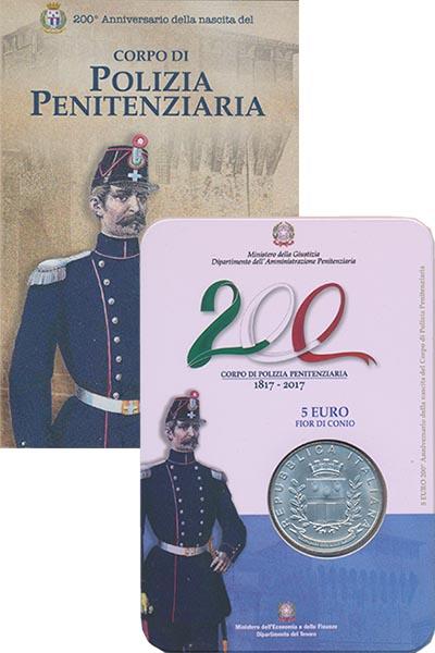 Изображение Подарочные монеты Европа Италия 5 евро 2017 Серебро UNC