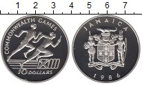 Изображение Монеты Северная Америка Ямайка 10 долларов 1986 Серебро Proof