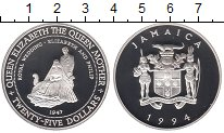 Изображение Монеты Ямайка 25 долларов 1994 Серебро Proof