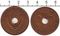 Изображение Монеты Восточная Африка 10 центов 1941 Бронза XF Георг VI