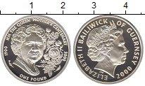 Изображение Монеты Гернси 1 фунт 2000 Серебро Proof