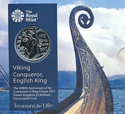 Изображение Подарочные монеты Великобритания Король Кнуд I 2017 Медно-никель BUNC
