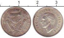 Изображение Монеты Африка ЮАР 3 пенса 1945 Серебро XF