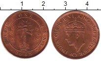 Изображение Монеты Цейлон 1 цент 1943 Бронза XF+ Георг VI