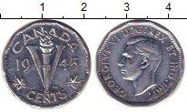 Изображение Монеты Северная Америка Канада 5 центов 1945 Медно-никель XF