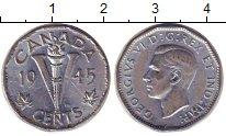 Изображение Монеты Канада 5 центов 1945 Медно-никель XF Георг VI.  Победа  в