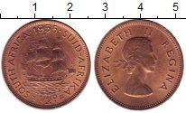 Изображение Монеты Африка ЮАР 1/2 пенни 1955 Бронза UNC-
