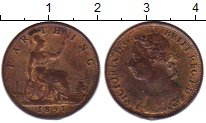 Изображение Монеты Великобритания 1 фартинг 1891 Бронза XF+