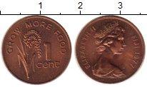 Изображение Монеты Фиджи 1 цент 1977 Бронза XF