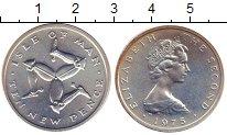 Изображение Монеты Великобритания Остров Мэн 10 пенсов 1975 Серебро UNC