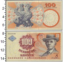 Изображение Банкноты Европа Дания 100 крон 0  UNC