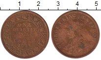 Изображение Монеты Индия 1/4 анны 1936 Бронза VF Георг V