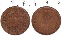 Изображение Монеты Азия Индия 1/4 анны 1939 Бронза VF