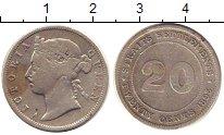 Изображение Монеты Стрейтс-Сеттльмент 20 центов 1893 Серебро XF