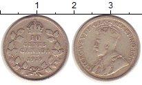 Изображение Монеты Канада 10 центов 1919 Серебро XF-