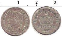 Изображение Монеты Европа Франция 20 сентим 1867 Серебро XF