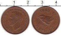 Изображение Монеты Европа Великобритания 1 фартинг 1945 Медь XF