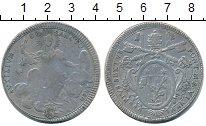Изображение Монеты Ватикан 1 скудо 1780 Серебро VF Понтифик  Пий VI