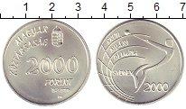 Изображение Монеты Венгрия 2000 форинтов 1999 Серебро UNC-