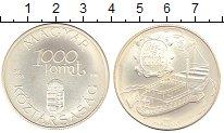 Изображение Монеты Венгрия 1000 форинтов 1995 Серебро UNC- Пароход