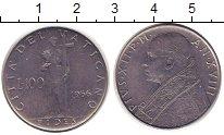 Изображение Монеты Европа Ватикан 100 лир 1956 Сталь XF