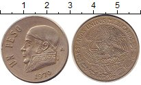 Изображение Монеты Мексика 1 песо 1970 Медно-никель XF