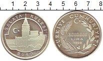 Изображение Монеты Азия Турция 3000000 лир 1998 Серебро Proof