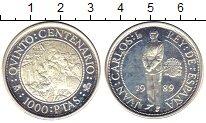 Изображение Монеты Европа Испания 1000 песет 1989 Серебро Proof-