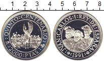 Изображение Монеты Европа Испания 2000 песет 1991 Серебро Proof