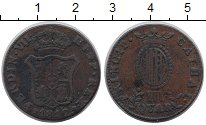 Изображение Монеты Испания Каталония 3 кварты 1812 Медь XF-