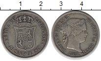 Изображение Монеты Европа Испания 40 сентим 1867 Серебро XF