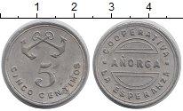 Изображение Монеты Европа Испания 5 сентим 1937 Алюминий XF-